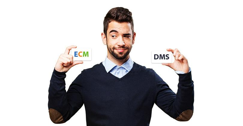 تفاوت ECM و DMS